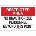 Brady 71229, Personnel Beyond This Point Sign
