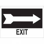 Brady 41017, 10″ x 14″ Aluminum Exit Sign