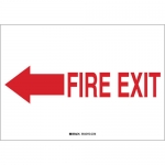 Brady 41025, 7″ x 10″ Aluminum Fire Exit Sign
