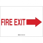 Brady 41026, 7″ x 10″ Aluminum Fire Exit Sign