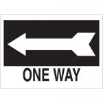Brady 41032, 10″ x 14″ Aluminum One Way Sign