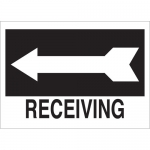 Brady 41034, 10″ x 14″ Aluminum Receiving Sign