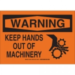 Brady 23927, Warning Keep Hands Out of Machinery Sign