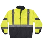 Ergodyne 25627, GloWear 8377 Type R Class 3 Lime Quilted Bomber Jacket