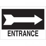 Brady 25767, 10″ x 14″ Polystyrene Entrance Sign
