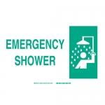 Brady 25903, 10″ x 14″ Polystyrene Emergency Shower Sign