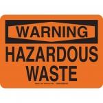 Brady 26451, 10″ x 14″ Polystyrene Hazardous Waste Sign