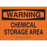 Brady 26452, 10″ x 14″ Polystyrene Chemical Storage Sign
