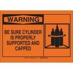 Brady 26541, 10″ x 14″ Polystyrene Be Sure Cylinder Sign