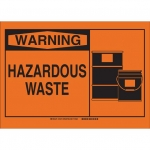 Brady 26595, 10″ x 14″ Polystyrene Hazardous Waste Sign