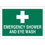 Brady 29081, 10″ x 14″ Polystyrene Emergency Shower & Eyewash Sign