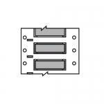Brady 2HX-125-2-GY-J, Double Sided Wire Marking Sleeve