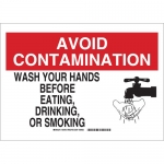 Brady 30705, Wash Your Hands Before Eating… Sign
