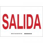 Brady 38831, 10″ x 14″ Polystyrene Salida Sign