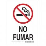 Brady 38955, 14″ x 10″ Polystyrene No Fumar Sign