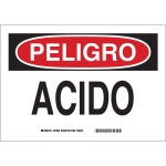 Brady 39130, 10″ x 14″ Polystyrene Peligro Acido Sign