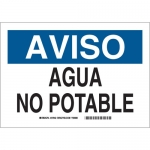 Brady 39144, 10″ x 14″ Polystyrene Aviso Agua No Potable Sign