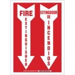 Brady 38253, 14″ x 10″ Aluminum Bilingual Fire Extinguisher Sign