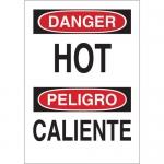 Brady 38865, 14″ x 10″ Polystyrene Bilingual Danger Hot Sign