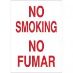 Brady 38420, 14″ x 10″ Aluminum Bilingual No Smoking Sign
