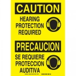 Brady 38428, Caution Hearing Protection Required Sign