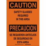 Brady 38689, Safety Glasses Required In This Area Sign