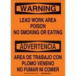 Brady 38768, Lead Work Area Poison No Smoking… Sign