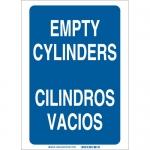 Brady 38769, Empty Cylinders Empty Cylinders Sign