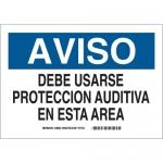 Brady 38843, Aviso Debe Usarse Proteccion… Sign