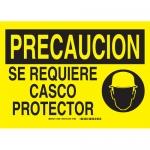 Brady 38981, Precaucion Se Requiere Casco Protector Sign