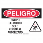 Brady 38986, Equipo Electrico Solopersonal Autorizado Sign