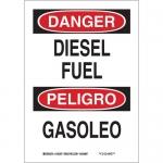 Brady 38571, 14″ x 10″ Aluminum Bilingual Danger Diesel Fuel Sign