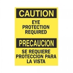 Brady 122400, Caution Eye Protection Required Sign