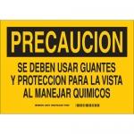 Brady 39128, Deben Usar Guantes Y Proteccion Para… Sign