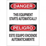 Brady 38411, This Equipment Starts Automatically Sign