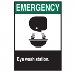 Brady 39878, Fiberglass Biling/Eye Wash Station(Picto) Sign