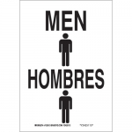 Brady 38483, 14″ x 10″ Aluminum Bilingual Men Sign