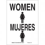 Brady 38997, 14″ x 10″ Polystyrene Bilingual Women Sign