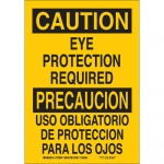 Brady 122391, Caution Eye Protection Required Sign