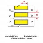 Brady 3FR-250-2-YL-2, Fluid Resistant Wire Marking Sleeve