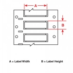 Brady 3FR-375-2-WT-S, Fluid Resistant Wire Marking Sleeve