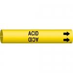 Brady 4000-C, Coiled Plastic Acid Pipe Marker