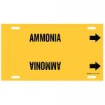 Brady 4005-G, Thru 9.875″ Dia. Plastic Ammonia Pipe Marker