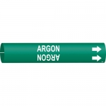 Brady 4006-C, 48493 Coiled Argon Pipe Marker on Green