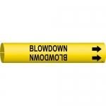 Brady 4014-C, Coiled Plastic Blowdown Pipe Marker