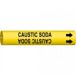 Brady 4021-C, 48279 Coiled Caustic Soda Pipe Marker