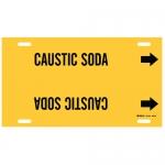 Brady 4021-H, 15″ Dia. Plastic Caustic Soda Pipe Marker