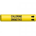 Brady 4025-C, Coiled Plastic Chlorine Pipe Marker