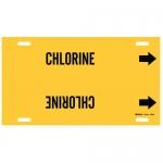 Brady 4025-H, Thru 15″ Dia. Plastic Chlorine Pipe Marker