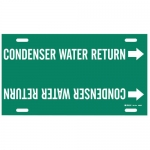 Brady 4040-F, Plastic Condenser Water Return Pipe Marker